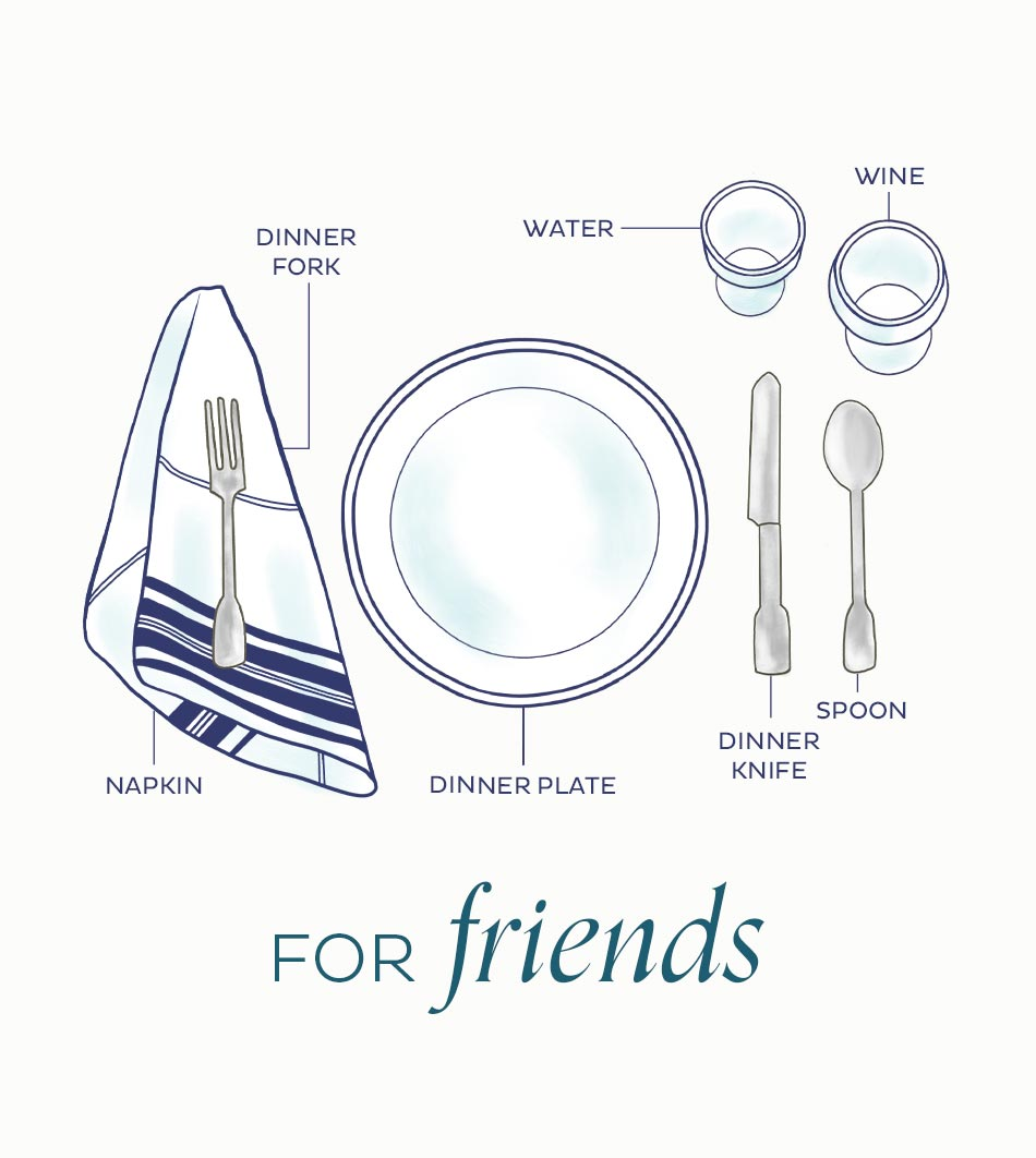 Infographic for how to set a table for casual occasion | Ballard Designs