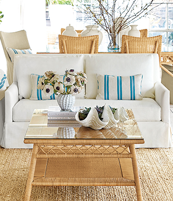 Suzanne Kasler furnishings and decor upholstery furniture image | Ballard Designs