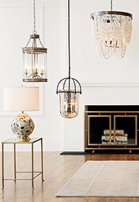 Light Fixtures, Home Lighting and Light Designs floor lamp display | Ballard Designs
