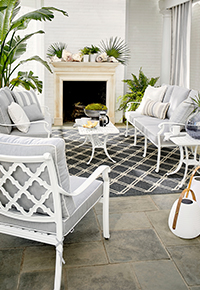 Outdoor patio furniture and accessories cozy group seating | Ballard Designs