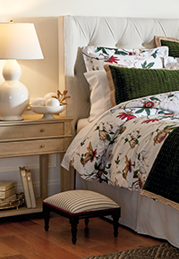 Bedding and Bath furnishings and decorations display | Ballard Designs