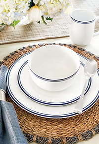 Kitchen and Entertaining Tabletop Flatware, Dinnerware, Drinkware in spring seasonal design | Ballard Designs